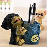TIED RIBBONS Resin Cute Dog Decorative Pen Stand (11 x 9 x 11 cm, Multicolour)