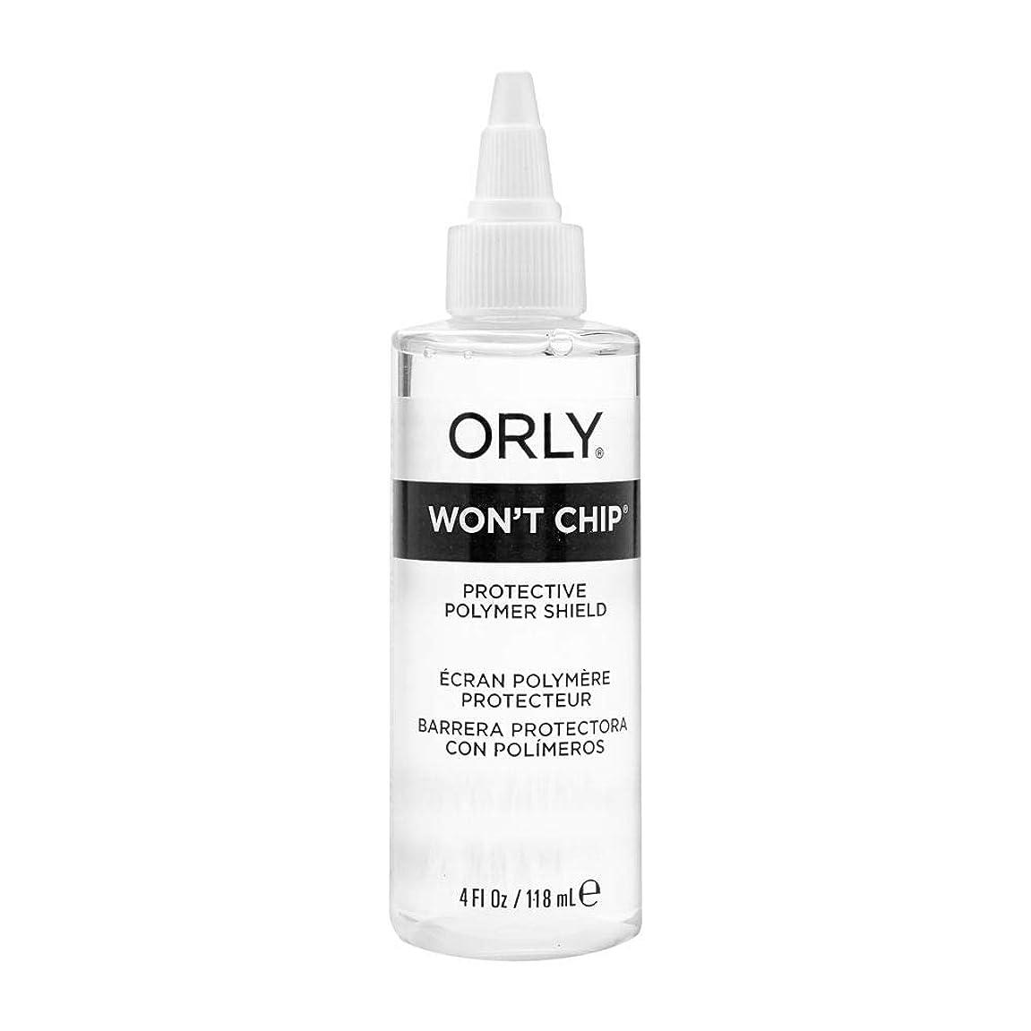 交換可能ボウルレクリエーションOrly Nail Treatments - Won't Chip Top Coat - 4oz / 118ml