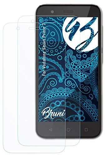 Bruni Schutzfolie kompatibel mit Vodafone Smart Prime 7 Folie, glasklare Bildschirmschutzfolie (2X)