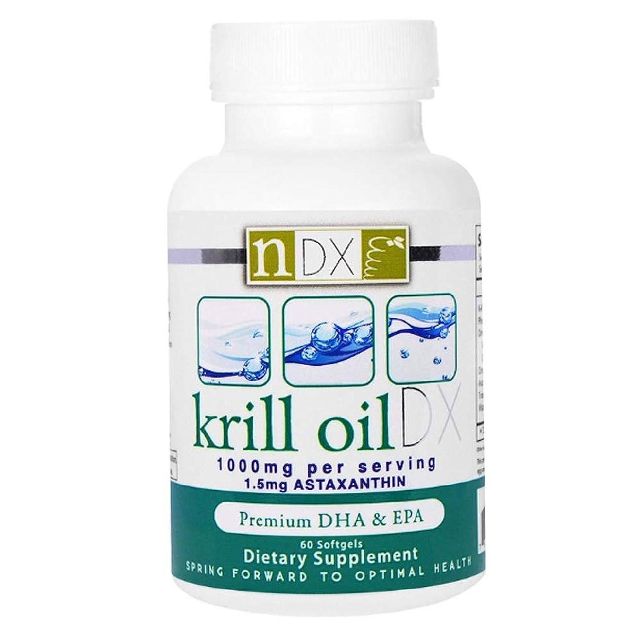 スマッシュ大胆な不誠実Natural Dynamix NDX オキアミ油 DX 1000 mg ソフトジェル 60 錠 【アメリカ直送】
