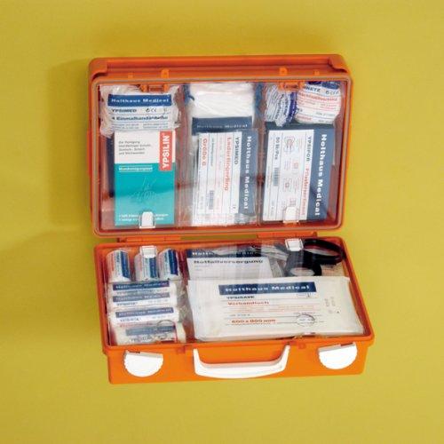 Holthaus Medical SAN Erste-Hilfe-Koffer gefüllt mit ÖNORM Z 1020 Typ 1
