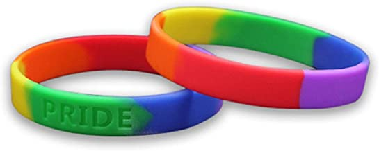 Fundraising For A Cause LGBTQ - Rainbow Pride Silicone Bracelet (Adult)
