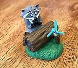 "Disney Pocahontas Racoon Meeko & Hummingbird Flit 2.5"" Mini PVC Cake Topper Collectible Figure Figurine Toy"