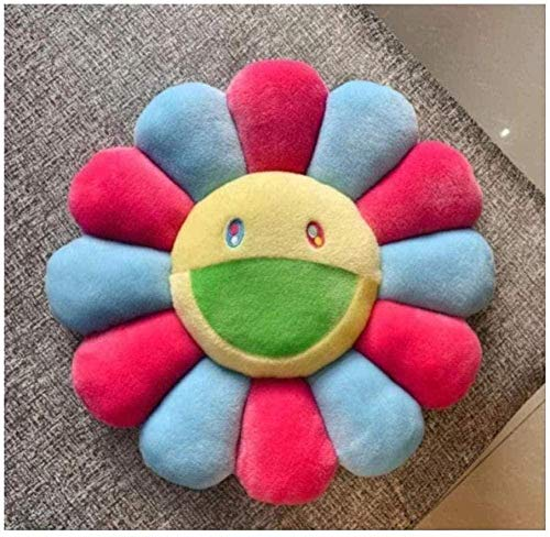 NC56 Sunflower Pillow Soft Flower Stuffed Doll Kiki Colorful Plush Toy Cushion Gift 40Cm Rose Blue Home Decoration -Gift