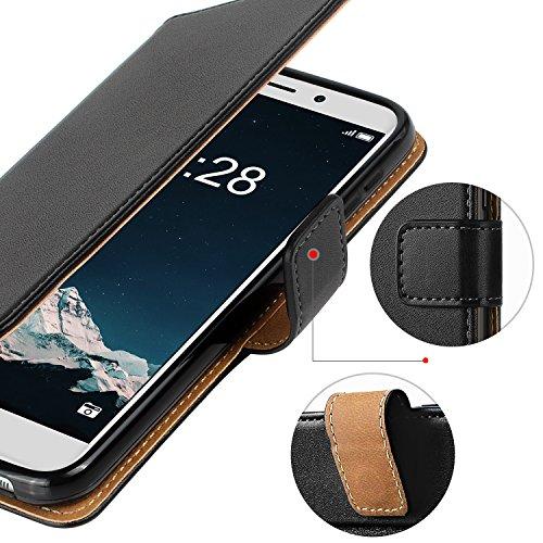HOOMIL Handyhülle für Huawei Honor 6X Hülle, Premium Leder Flip Schutzhülle für Huawei Honor 6X Tasche, Schwarz - 5