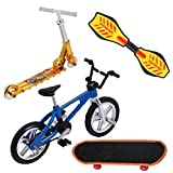 shentaotao Regalos Mini Finger Juguetes Set Patinetas Finger Bicicletas Fingerboards Mini Deportes Cumpleaños 4 Unidades