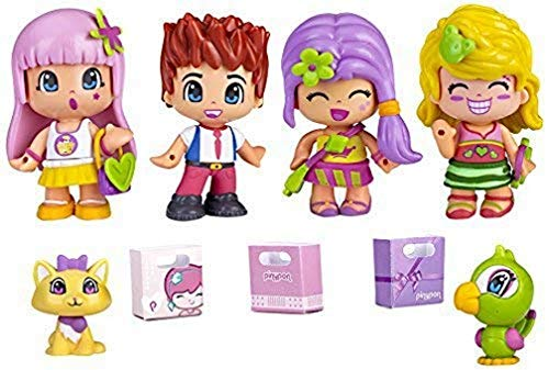 Pinypon - City Pack con Cuatro Figuras (Famosa...