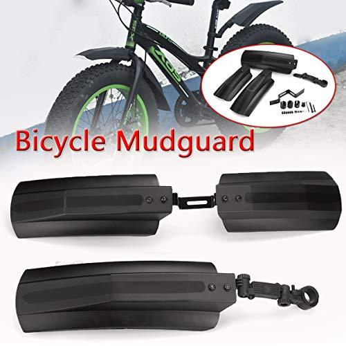 HCHD La Bici de Ciclo Fender Piezas de Bicicletas de montaña MTB Guardabarros 20-26 Pulgadas de Barro Bicicletas Aletas Delanteras del Guardabarros Trasero de la Rueda