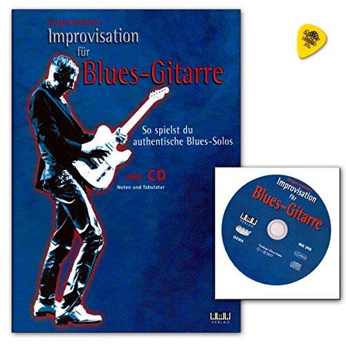 Improvisation für Blues-Gitarre von Jürgen Kumlehn - so spielst du authentische Blues-Solos - Notenbuch (Lehrmaterial mit Tabulatur) mit CD und Dunlop Plek
