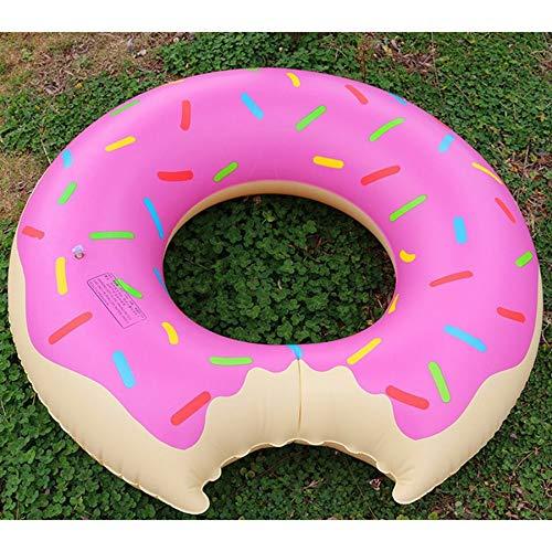 #N/A Aufblasbarer Donut Schwimmring Riesiger Pool Float Toy Aufblasbare Matratze Wasser