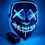 KingCorey Halloween Mask, LED Light Up Mask mit Neon Drähten, einstellbare Scary Masquerade Glow...