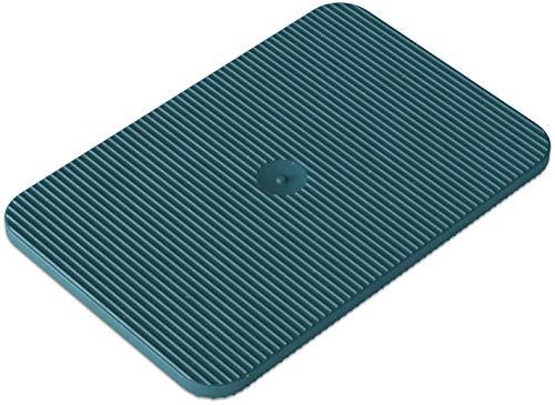 INNONEXXT® Premium Unterlegplatten | 60 x 40 mm, 2 mm blau - 250 Stk. | Abstandshalter, Plättchen aus Kunststoff, Distanzplatten, Klötze, Unterlegklotz, Distanzhalter | Tragfähigkeit bis 5 t