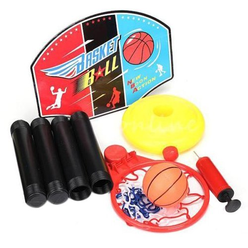TOOGOO(R) Reglable ensemble de jouet de basketball d'enfants bebe Equipment de traitement de Sports Net panier de basket