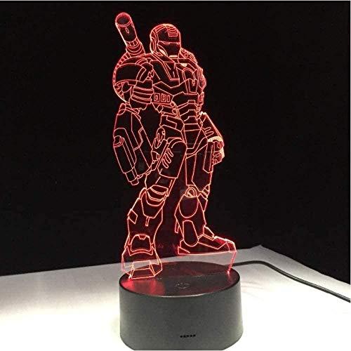 3D LED Illusionslampe Kreative Atmosphäre Tischspielzeug 7 Farbverlauf Visuelle Perspektive Lichter Tischdekor Lampe