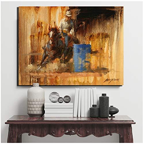 DNJKSA Thomas Landschaft American West CowboyArt Poster Druck auf Leinwand Gemälde für Wohnzimmer Poster Home Decor-60x80cm No Frame