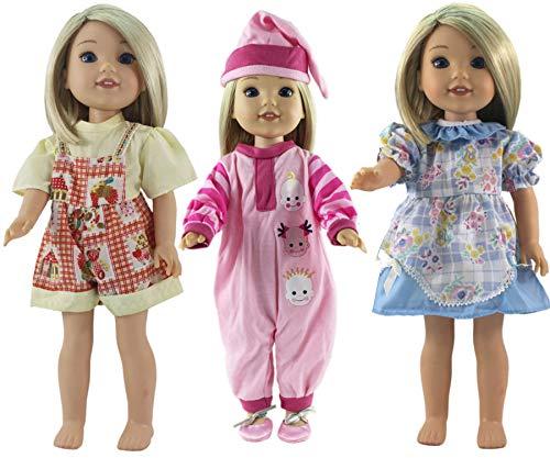 WENTS Vestidos Lindo para Bebé Muñecas Ropa Fashion Muñecas 35-46cm Girl Doll bebé 36 cm Doll 18 Pulgadas American Girl Doll