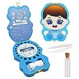 Dentini da Latte Salva Box per Bambini(italiano), Scatola Porta Dentini da Latte, Bambini in legno ricordo regalo, Accumulazione dei denti (Ragazzo)