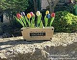 MomoMoments 2 Hochwertige Tulpensträuße aus Holz für die Liebste, 2X 9 Kunsttulpen handbemalt, 21 cm hoch, Blumenstrauss, Dekoration, Muttertagsgeschenk, Made in Holland - 4