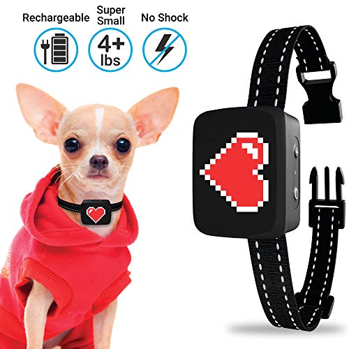 Small Dog Bark Collar Rechargeable - Anti Barking Collar For Small Dogs - Smallest Most Humane Stop...