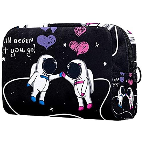 Outer Space Rocket - Bolsa de almacenamiento multifuncional para mujeres y niñas, bolsa de aseo portátil para viajes, Multicolor10, 18.5x7.5x13cm/7.3x3x5.1in, moderno