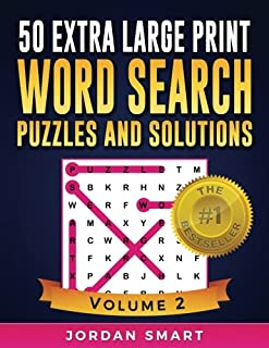 50 Extra Large Print Word Search Puzzles and Solutions: The Best Easy-to-Read Circle-a-Word Puzzles With Fun Themes (Big Font Find a Word for Adults and Seniors) (Volume 2)