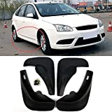 WEISHAN Mud Flaps Coche Set 4 Piezas de vehículos Guardabarros Guardabarros Guardabarros Delantero y Trasero Suaves ABS Mudflaps for 2005-2011 Ford Focus 2 MK2 5dr HB (Couleur : Please Note That B)