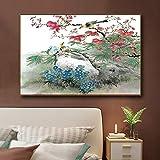 Sadhaf lienzo impreso abstracto flores y pájaros paisaje carteles e impresiones lienzo pintura al óleo hogar sala de estar dormitorio decoración a6 70x100cm
