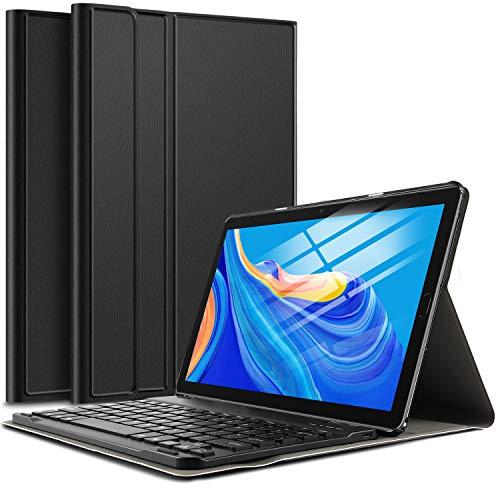 IVSO Funda con Teclado Español Ñ para Huawei MediaPad M6 - Tablet 10.8