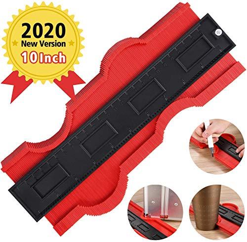One Sight Konturlehre Duplikator 25,4 cm Profillehre Form Duplikator Kopierwerkzeug Töpfe Herstellung Werkzeug für perfekte Passform und einfaches Schneiden (25.4cm #rot)