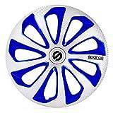 SPARCO Jeu d'enjoliveurs Sicilia 14-inch Argent/Blue/carboné