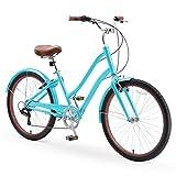 sixthreezero EVRYjourney Casual Edition Women's 7-Speed Step-Through Touring Hybrid Bike, 26'...