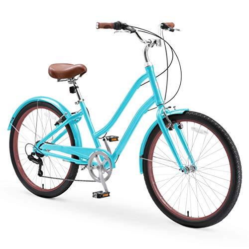 sixthreezero EVRYjourney Casual Edition Women's 7-Speed Step-Through Touring Hybrid Bike,...
