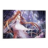 YRETW Póster de anime espada en línea de asuna pintura decorativa lienzo arte de la pared de la sala de estar carteles pintura dormitorio 30 x 18 pulgadas (30 x 45 cm)