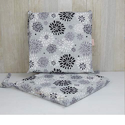 Rumba - Juego de 2 cojines para silla (gris)