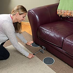 Evelots Furniture Lifter with 16 Sliding Mover Pads, Move Heavy Furniture Easily