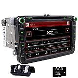Doppel DIN GPS Auto-Stereo 20,3cm Touchscreen DVD Player inDash Navigation USB/SD FM AM