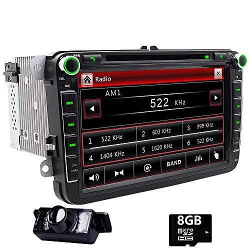 Doble DIN estéreo de 8 Pulgadas Pantalla táctilreproductor de DVD de Coche en Dash GPS Autoradio Bluetooth Headunit para VW Golf 5 6 Polo Jetta TOURAN EOS PASSATCC TIGUAN Sharan Scirocco Caddy