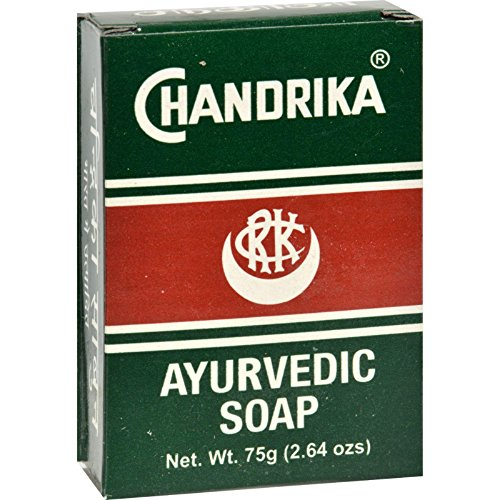 Chandrika Soap Ayurvedic Herbal and Vegetable Oil Soap - 2.64 oz - Case of 6