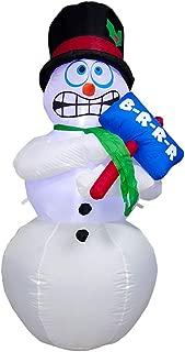 inflatable brrr snowman