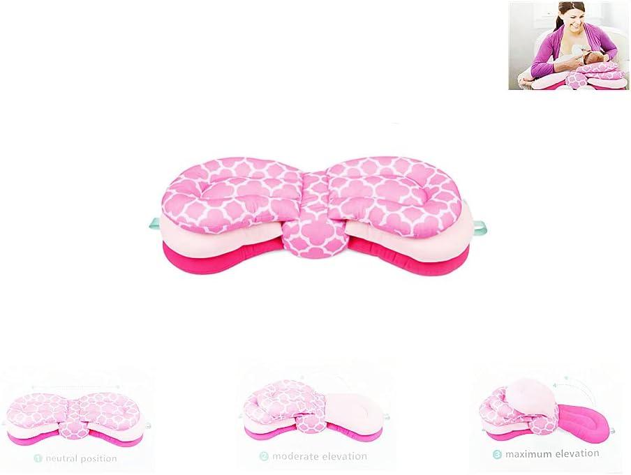 Bdhjzytt Multi-Function Breastfeeding Pillow Maternity Nursing Pillow,Adjustable Height , Baby Feeding Pillow (Pink)