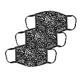 Staresen Baumwolle Mundschutz Kinder Täglich Multifunktionstuch 3D Lustige Druck Winddicht Waschbar Wiederverwendbar Atmungsaktiv Stoff Mund-Nasenschutz Motorrad Bandana Halstuch Schal