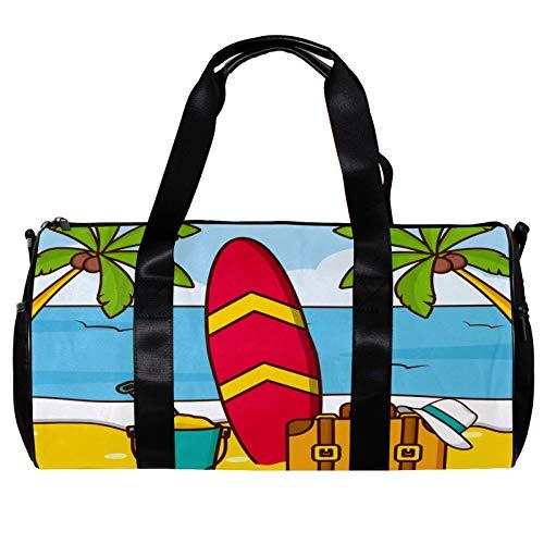 Bolsa de deporte redonda con correa de hombro desmontable para playa, viajes, vacaciones, entrenamiento, para mujeres y hombres