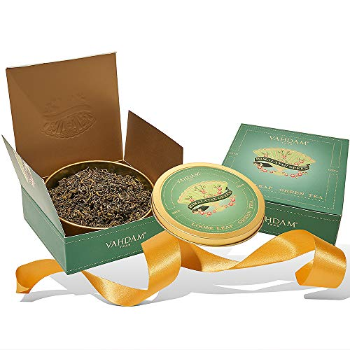 VAHDAM, Himalayan Green Tea Gift Set | 100% Natural Ingredients | Packed at Source in India | Best Birthday Gifts Set for Women & Men | Tea Set | Green Tea Gift Set