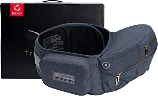 Bebamour Foldable Baby Hip Seat Carrier Ergonomic Toddler Waist Seat (Dark Grey)