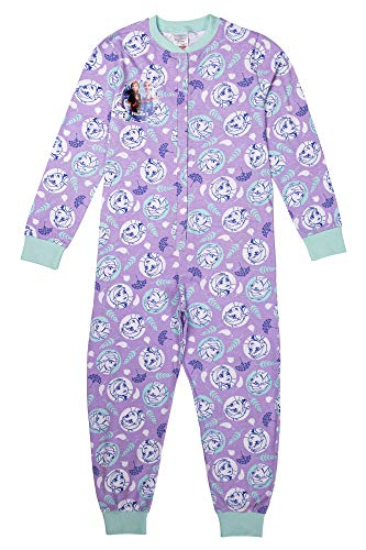 Disney Mädchen Schlafanzug/Einteiler Anna ELSA Olaf, Alter 3 bis 12 Jahre Gr. 6-7 Jahre, violett