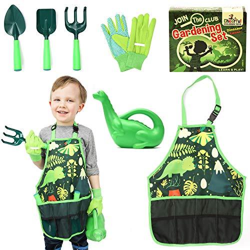 Childrens Gardening Set - Kids Gardening Set - Kids Gardening Tools - Children's Garden Tools - Kids Garden Tools - Kids Garden Set - Gardening For Kids - Childs Gardening Set - Dinosaur edition