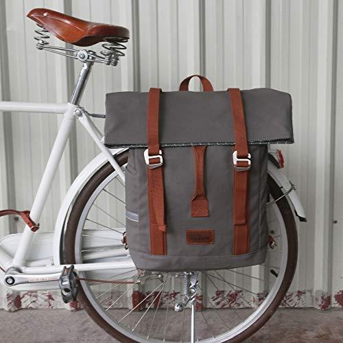 Yuelso Vintage Outdoor-Fahrrad-Beutel Pannier Sitztaschen-Fahrrad REIT Schulter-Rucksack Freizeit tägliche Schultasche Wasserdicht Fahrradtasche