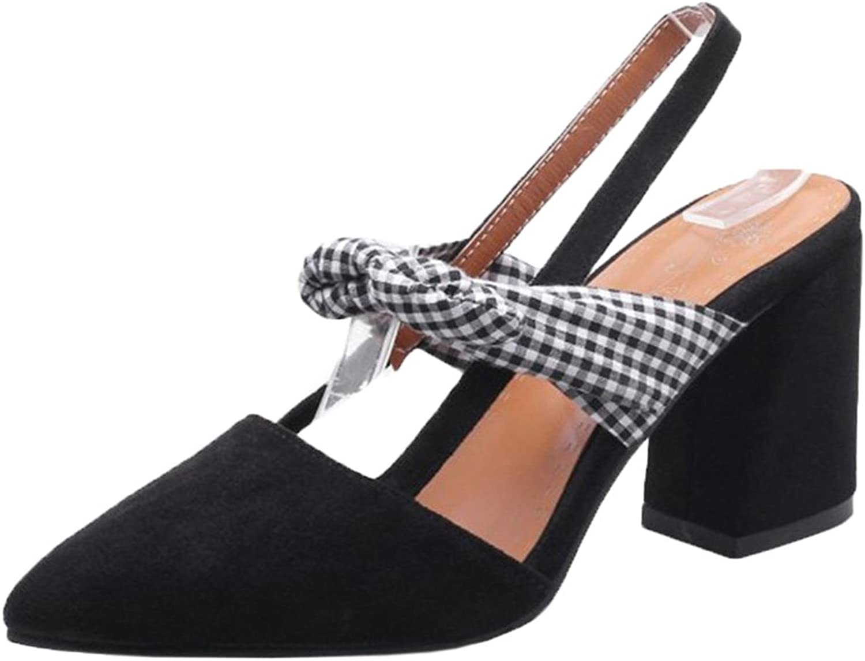 FizaiZifai Women Block Heel Sandals shoes Slingback