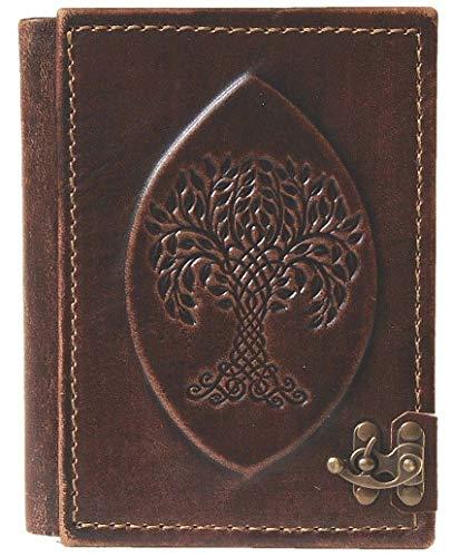 Notizbuch aus Leder | Weltesche Yggdrasil | Tagebuch | blanko Seiten | Mittelalter |...