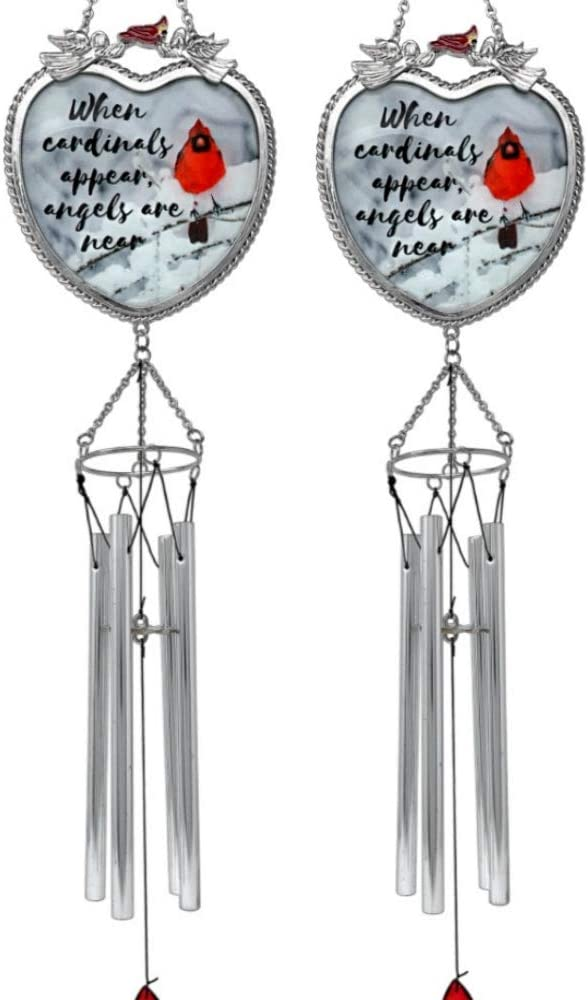 BANBERRY DESIGNS Memorial At the price Topics on TV Windchimes - Appear Cardinals Ang When